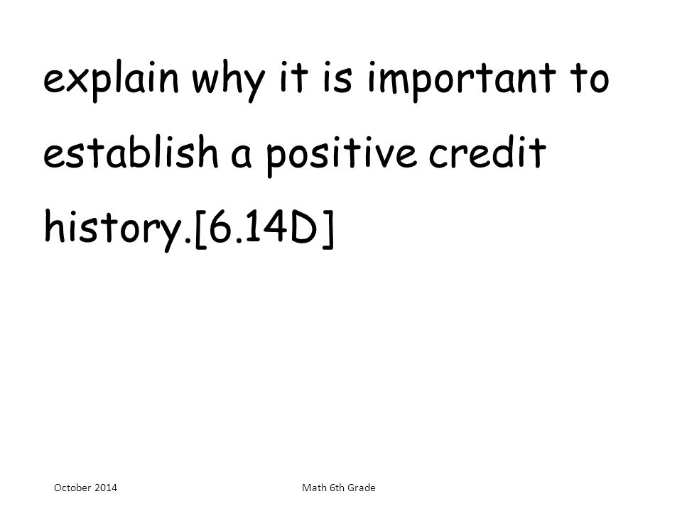 a description of the importance of establishing credit Description: r0 or i0: why your credit rating is important the importance of credit today is significant overlooking this fact can be very detrimental to your financial health being aware of how your credit score is calculated is essential.